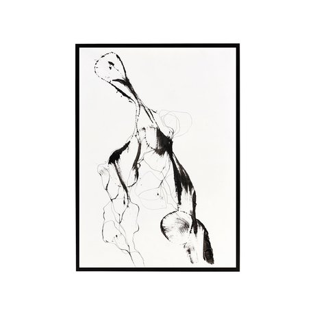 Housedoctor Poster met lijst Ballet papier MDF glas 32x45cm