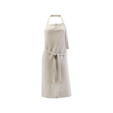 Nicolas Vahe Tablier de cuisine Lin lin gris coton 90x84cm