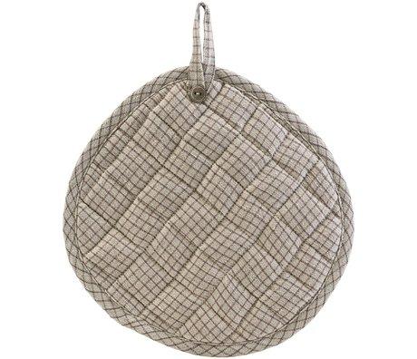 Nicolas Vahe Potholders Linen gray linen cotton set of 2 Ø18x21cm