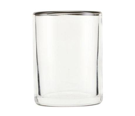 Nicolas Vahe Trinkglas Greys graues Glas Ø6,5x9cm