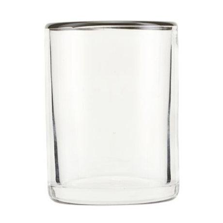 Nicolas Vahe Drinking glass Grays gray glass Ø6,5x9cm
