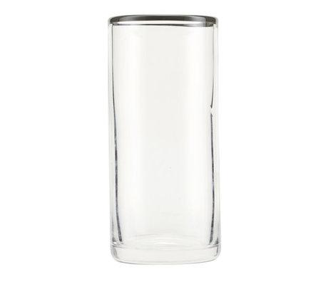 Nicolas Vahe Glas Grau graues Glas Ø6,5x14,5 cm