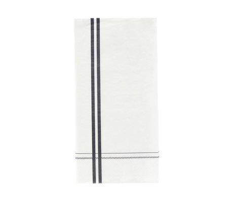 Nicolas Vahe Serviettenstreifen graues Papier 20x10cm 12er Set