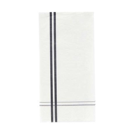 Nicolas Vahe Serviette à rayures papier gris 20x10cm, lot de 12
