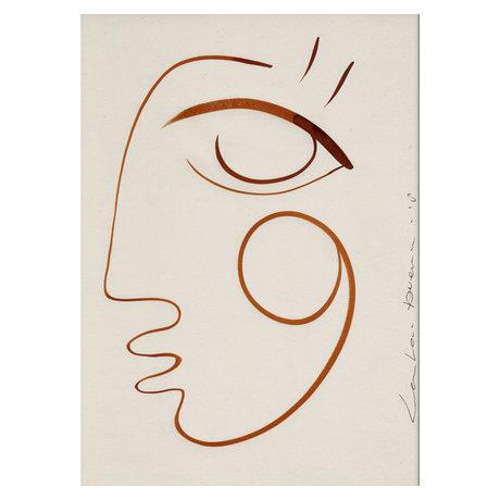 Paper Collective Poster Plein d'amour blanc orange sur papier 50x70cm