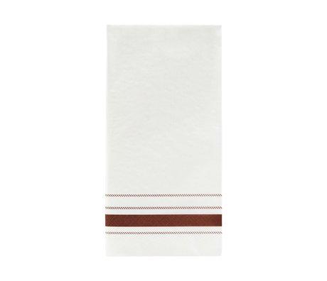 Nicolas Vahe Servet Stripe bruin papier 20x10cm set van 12