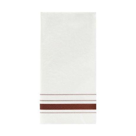 Nicolas Vahe Serviette à rayures papier brun 20x10cm, lot de 12