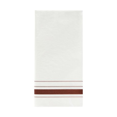 Nicolas Vahe Serviettenstreifen braunes Papier 20x10cm 12er Set