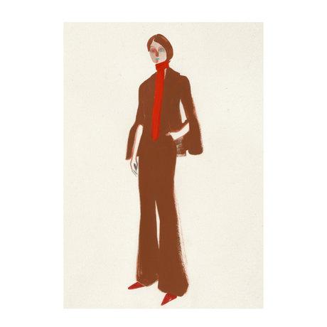 Paper Collective Poster The Suit aus weißem braunem Papier 30x40cm