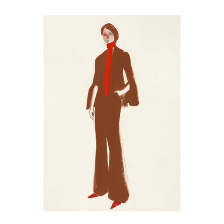Paper Collective Poster The Suit off white brown paper 30x40cm