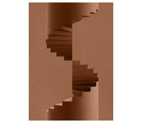 Paper Collective Poster The Pillar braunes Papier 50x70cm