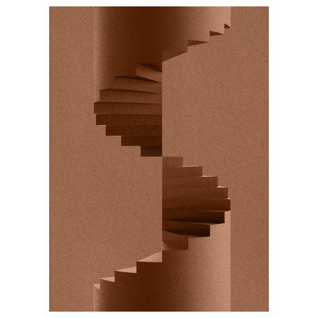 Paper Collective Poster The Pillar bruin papier 50x70cm