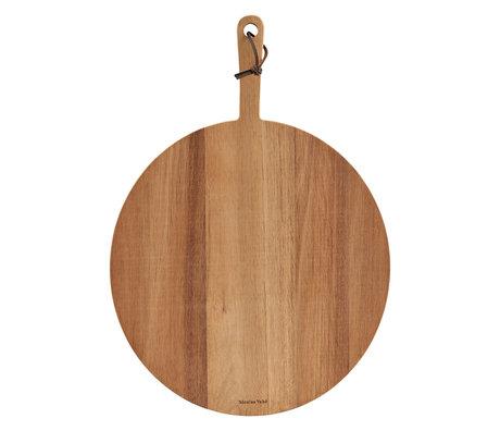 Nicolas Vahe Teller Pizza Akazie braun Holz 50x35x2cm
