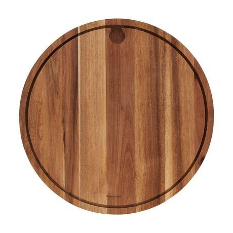 Nicolas Vahe Plattenfleisch Akazie braunes Holz Ø45x3cm