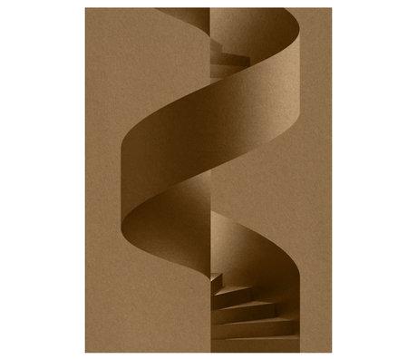 Paper Collective Poster The Serpentine bruin papier 50x70cm