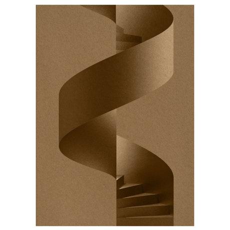 Paper Collective Poster Das braune Serpentinenpapier 50x70cm