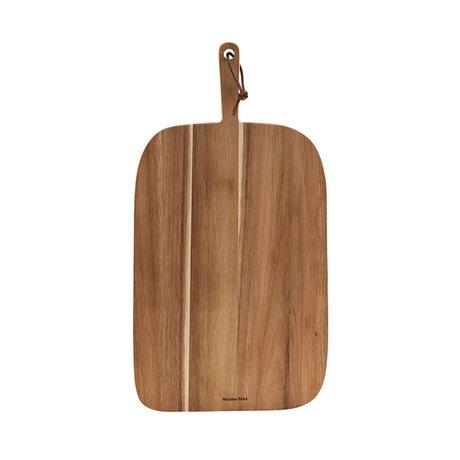 Nicolas Vahe Breadboard Bread Acacia brown wood 51x27x2cm