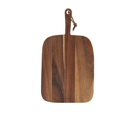 Nicolas Vahe Plank Serving Acacia bruin hout 39x22x2cm