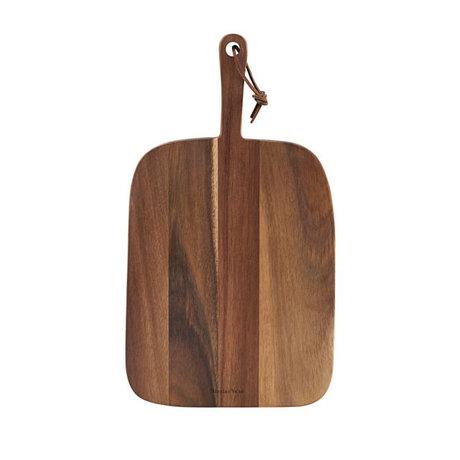 Nicolas Vahe Etagère de service en bois d'acacia brun 39x22x2cm