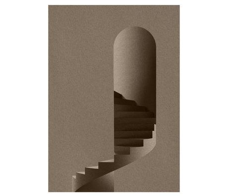 Paper Collective Poster Der Turm graues Papier 50x70cm
