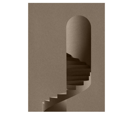Paper Collective Poster The Tower gray paper 50x70cm