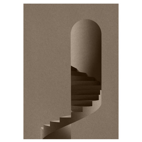 Paper Collective Poster The Tower grijs papier 50x70cm