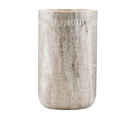 Nicolas Vahe Pot de rangement Marbre crème marbre Ø10.5x17cm