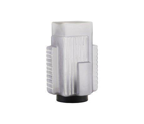 Housedoctor Table lamp Blocks gray glass metal 18,4x19,3x28cm