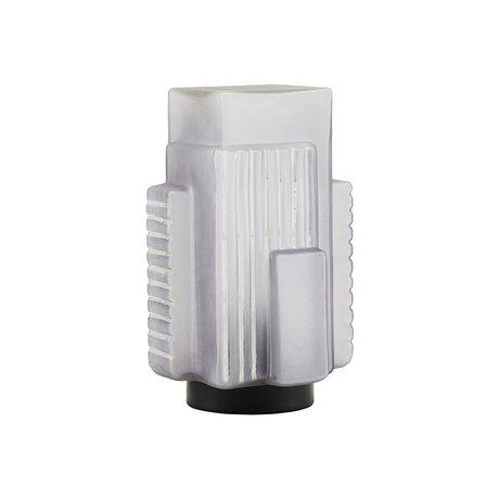 Housedoctor Tafellamp Blocks grijs glas metaal 18,4x19,3x28cm