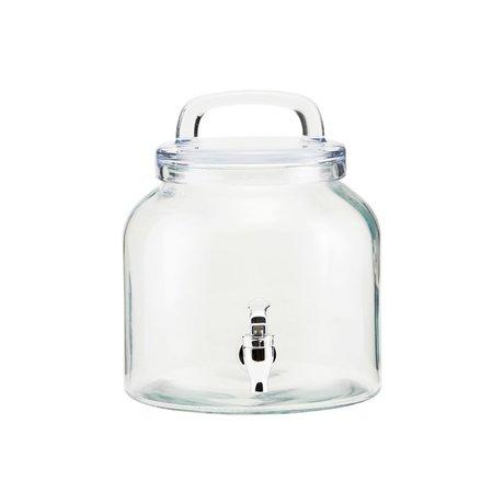 Housedoctor Wasserhahn Eiskaltes Glas 4 Liter Ø18,5x21cm
