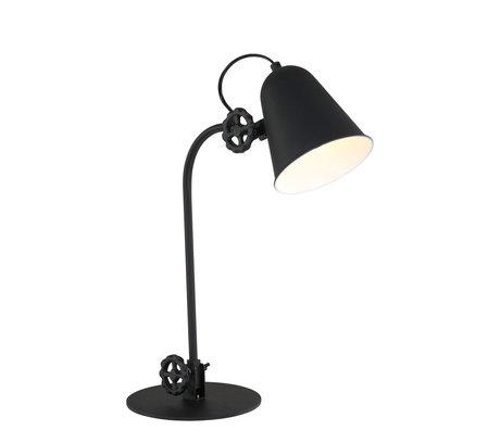 Anne Lighting Table lamp Dolphin matt black metal 19x38cm