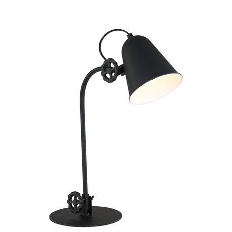 Anne Lighting Tafellamp Dolphin mat zwart metaal 19x38cm
