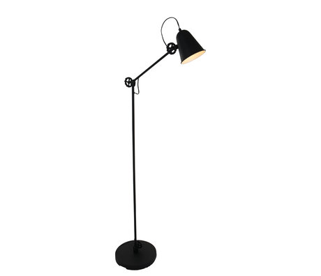 Anne Lighting Floor lamp Dolphin matt black metal 28x160cm