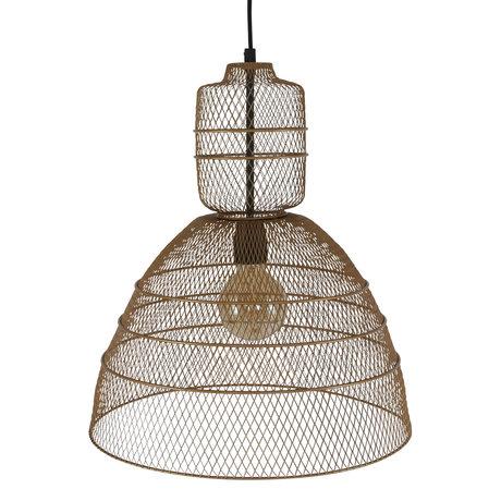 Anne Lighting Hanglamp Yogyakarta D'or mat goud metaal 42,5x 42,5x50/170 cm