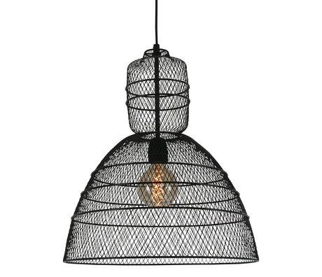 Anne Lighting Hanglamp Yogyakarta D'or mat zwart metaal 42,5x 42,5x50/170 cm