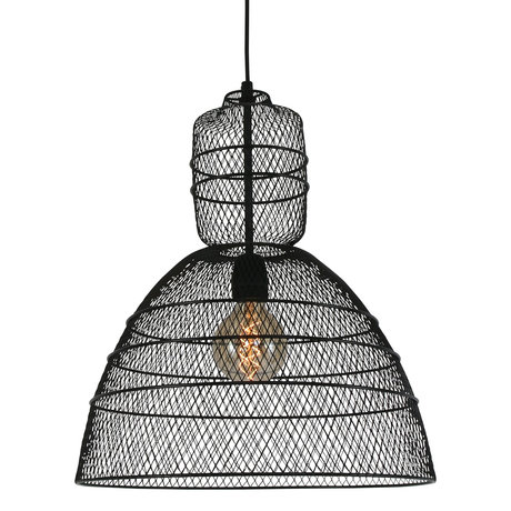 Anne Lighting Hanging lamp Yogyakarta D'or matt black metal 42.5x42.5x50 / 170 cm