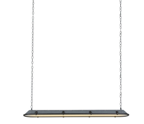 Anne Lighting Hanging lamp Tubalar concrete look gray metal glass 120x15x16.5cm