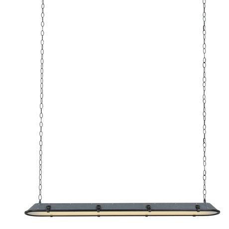 Anne Lighting Hanglamp Tubalar betonlook grijs metaal glas 120x15x16,5cm