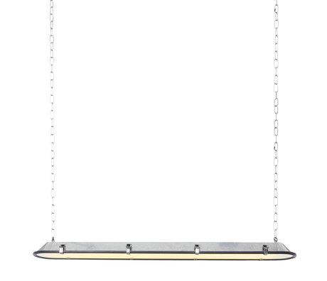 Anne Lighting Hanglamp Tubalar zink look metaal glas 120x15x16,5cm