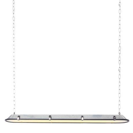 Anne Lighting Suspension Tubalar aspect zinc métal verre 120x15x16.5cm
