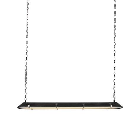 Anne Lighting Suspension Tubalar verre en métal noir mat 120x15x16.5cm