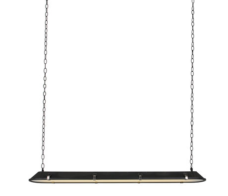 Anne Lighting Tubalar hanging lamp matt black metal glass 120x15x16.5cm