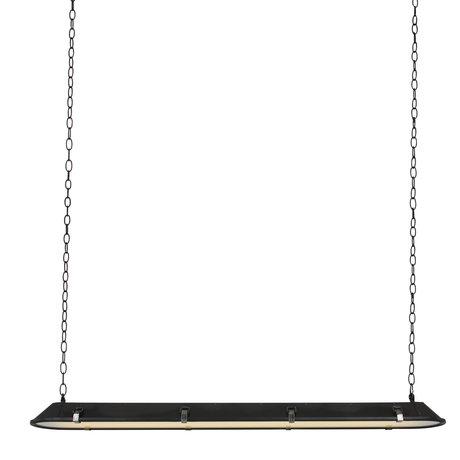 Anne Lighting Hanglamp Tubalar mat zwart metaal glas 120x15x16,5cm