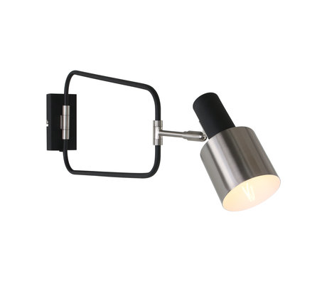Anne Lighting Wall lamp Fjordgard matt black metal 27x22x25cm