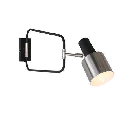 Anne Lighting Wandlamp Fjordgard mat zwart metaal 27x22x25cm