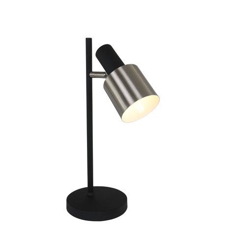 Anne Lighting Lampe à poser Fjordgard en métal noir mat 30x30x43cm