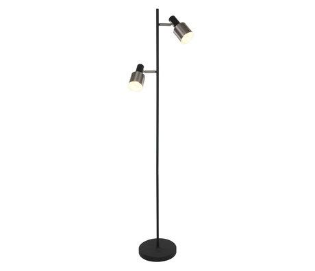 Anne Lighting Stehleuchte Fjordgard mattschwarz Metall 40x40x155cm