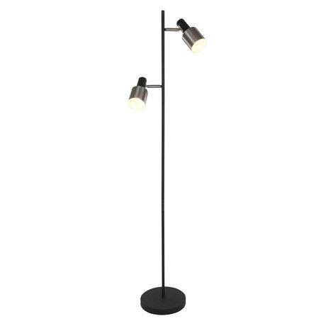 Anne Lighting Lampadaire Fjordgard en métal noir mat 40x40x155cm
