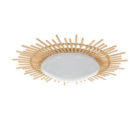 Anne Lighting Plafonnier Aura blanc Fer à bois en plastique Ø50x9cm