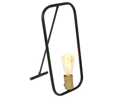 Anne Lighting Tafellamp Summit mat zwart metaal 10x23x45cm